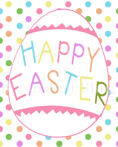 Happy Easter free Print