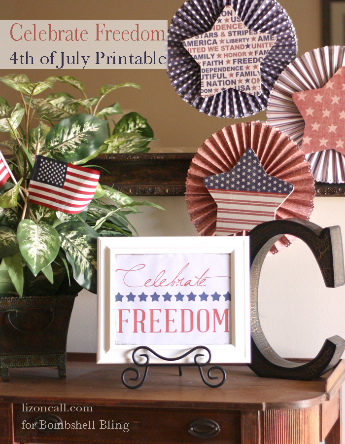 Celebrate Freedom free printable for the 4th of July