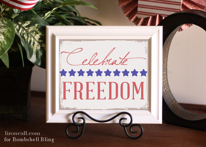 Celebrate Freedom #free #printable for the 4th of July  #4thofJuly
