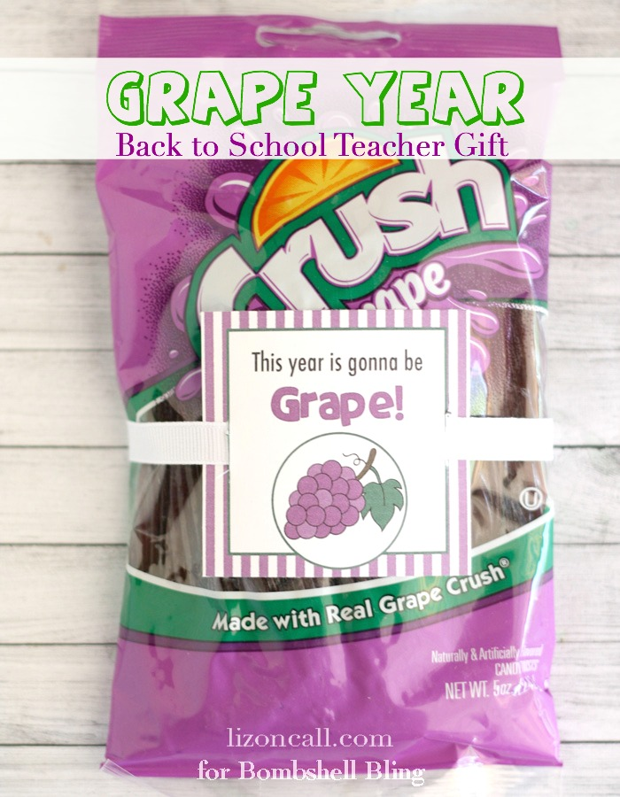 This year is gonna be GRAPE!  Free Printables for back to school teacher gifts. #backtoschool #teacher #gift #printables