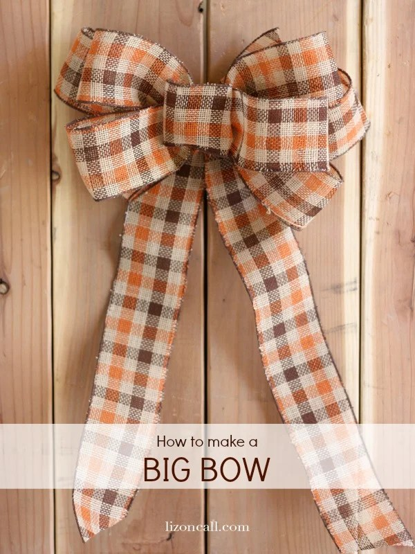 how to make a big bow for a wreath out of ribbon liz on call