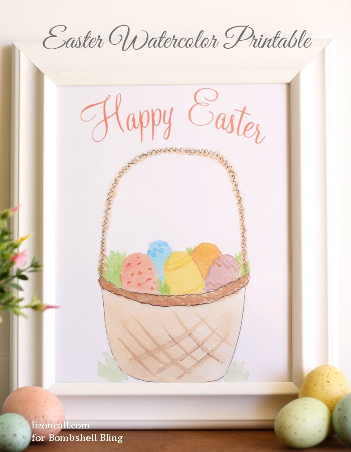 Happy Easter Watercolor printable