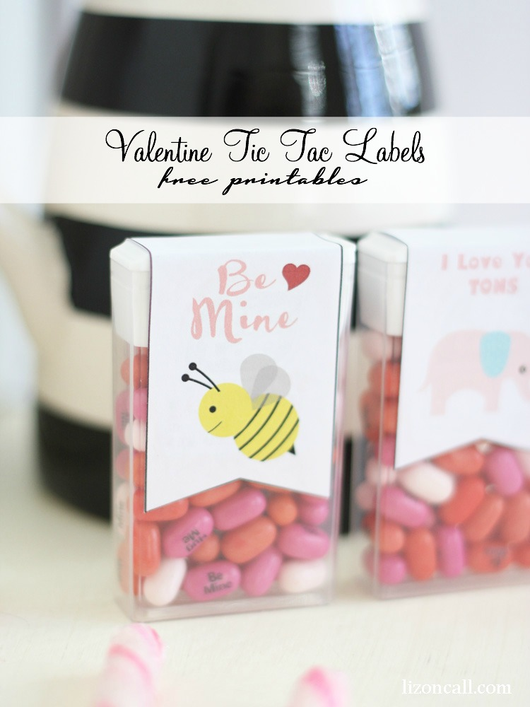 free printable valentine tic tac labels make a cute and simple gift for valentines