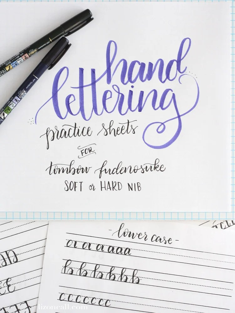Free Printable Hand Lettering Practice Sheets - Liz on Call