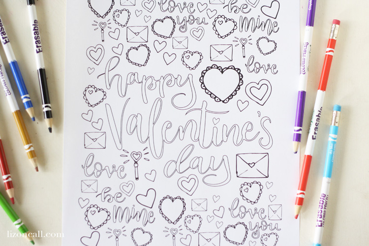 Valentine S Day Coloring Page Liz On Call