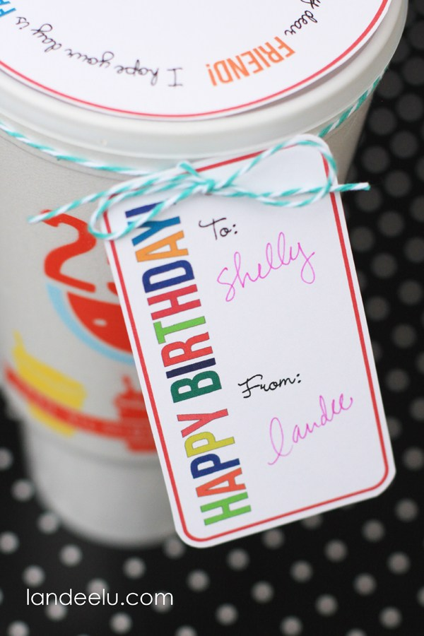Birthday Drink Topper From Landeelu