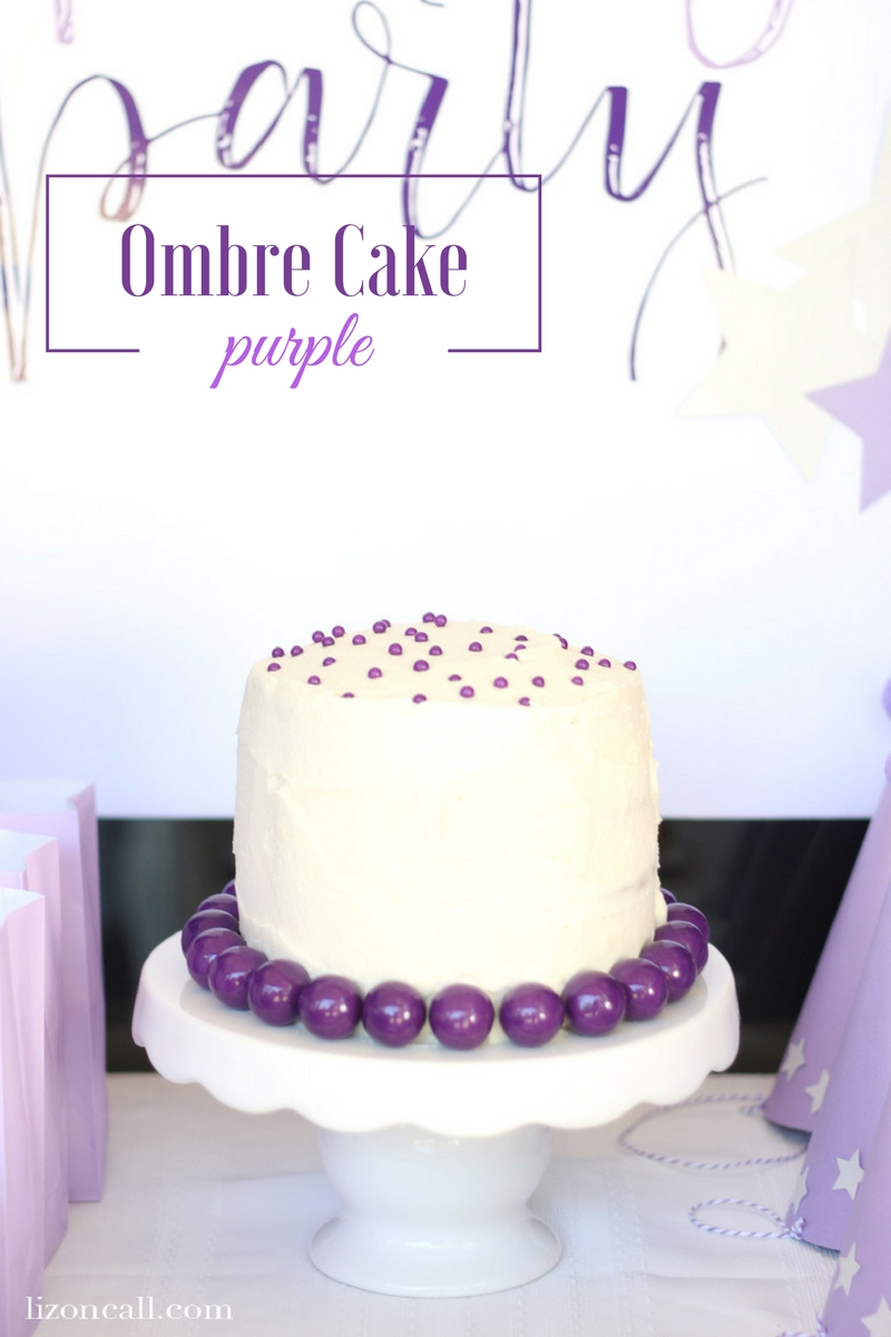 Purple Ombre Cake Liz On Call