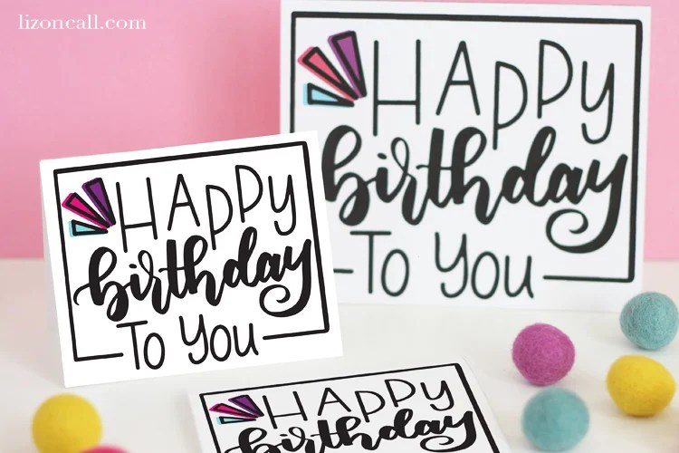 Print Out And Give This Hand Lettered Free Printable Birthday Card To Your Best Friend