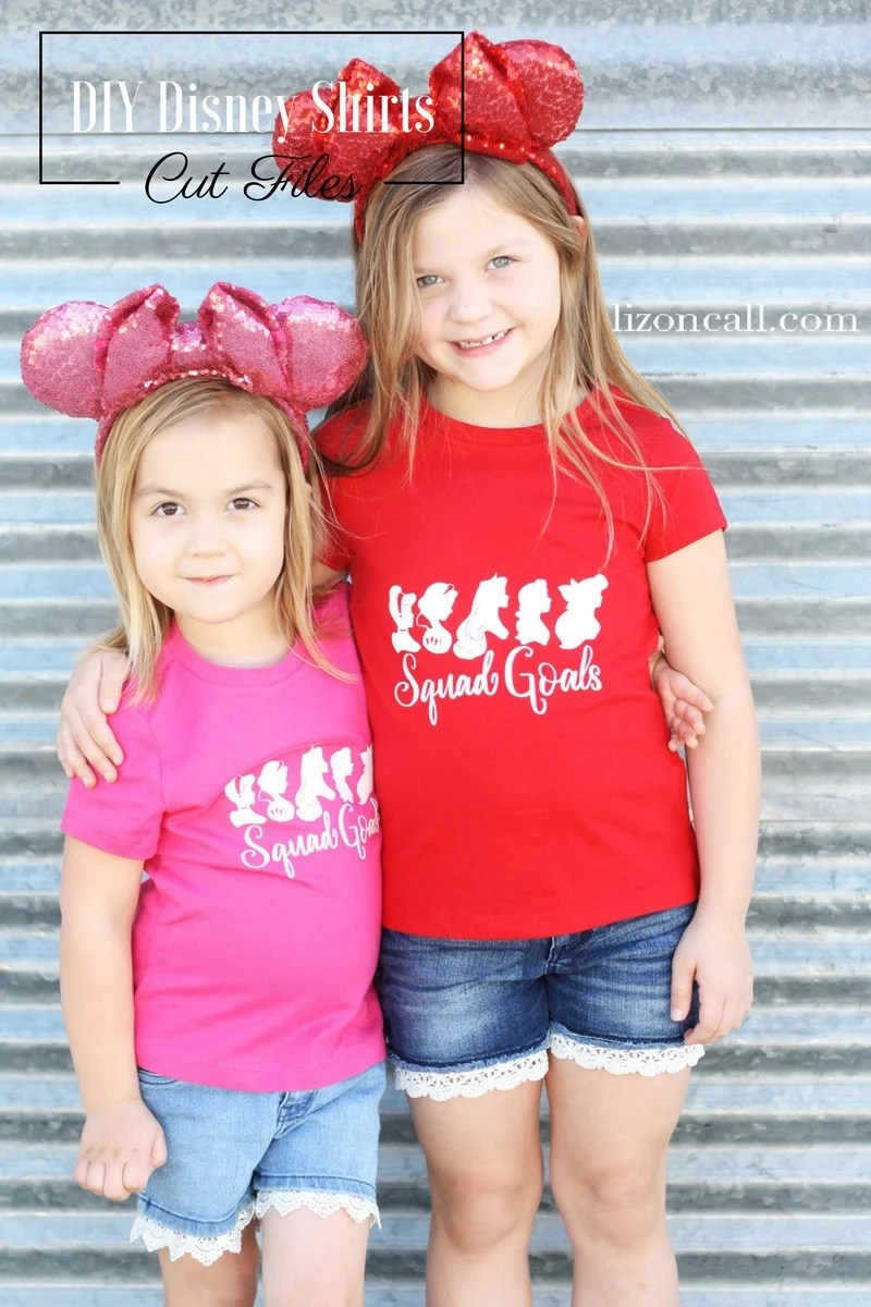 Get The Free Cut Files To Make These Squad Goals DIY Disney Shirts They Will