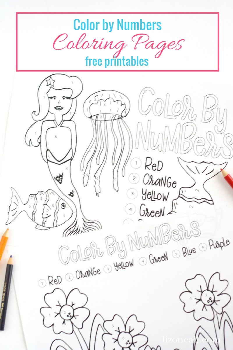 Free Color By Number Printables - Liz on Call