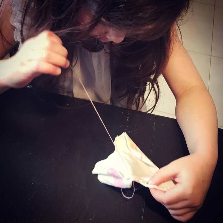 Learning to sew in quarantine