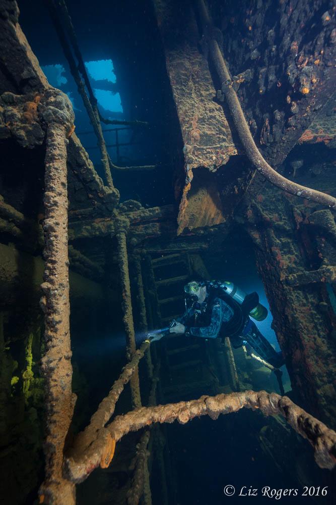 Engine room on the Kensho Maru