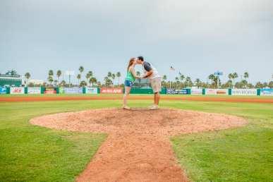 Cyndal and Nick Engagement Photography Daytona Beach Jackie Robonson Baseball 2