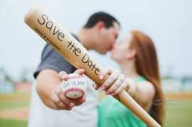 Daytona Beach Engagement Photography Baseball Theme