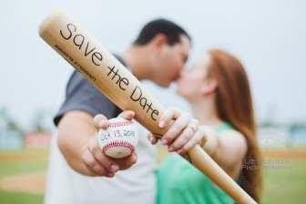 Daytona Beach Engagement Photography Baseball Theme