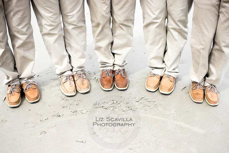 Khaki Groomsmen Boat Shoes