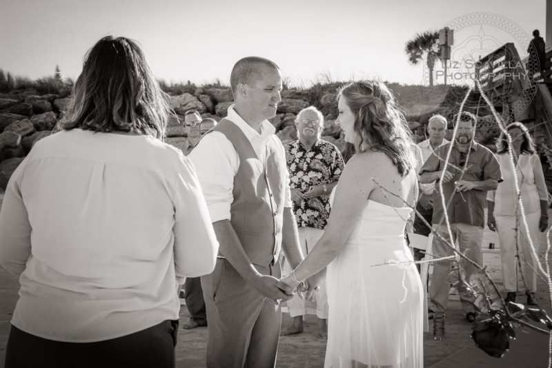 Black & White Beach Ceremony