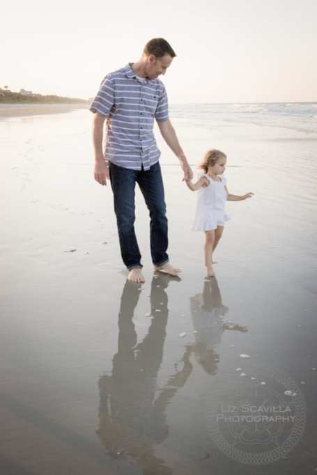 Father Daughter on Beach