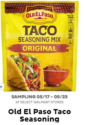 Free Old El Paso Taco Seasoning at Walmart Freeosk   Liz's Frugal