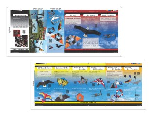 Interactive Brochure with QR Codes Linked to Video - Premier Kites/Premier RC - Adobe InDesign