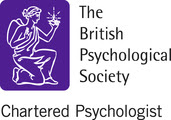 Logo of the British Psychological Society, denoting a Chartered Psychologist
