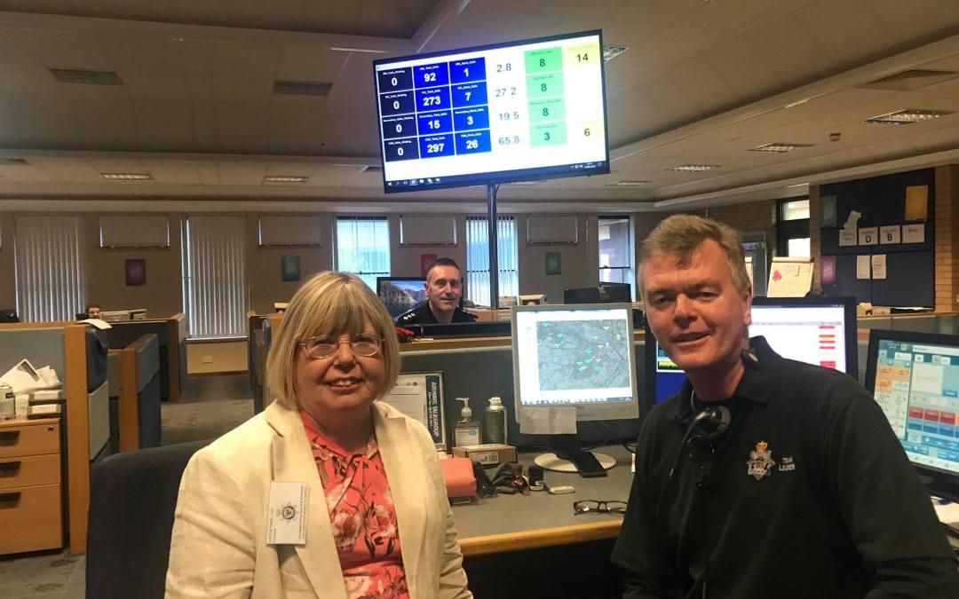 Liz visits Northumbria Police