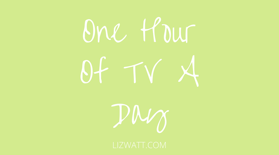 One Hour Of TV A Day