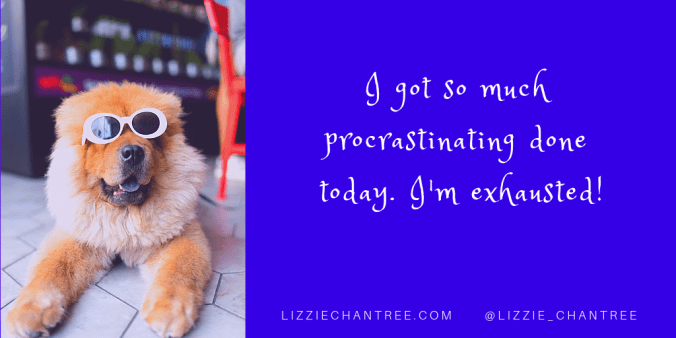 Exhausted from procrastinating meme by Lizzie Chantree.png