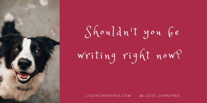 Shouldn't you be writing meme by Lizzie Chantree.png