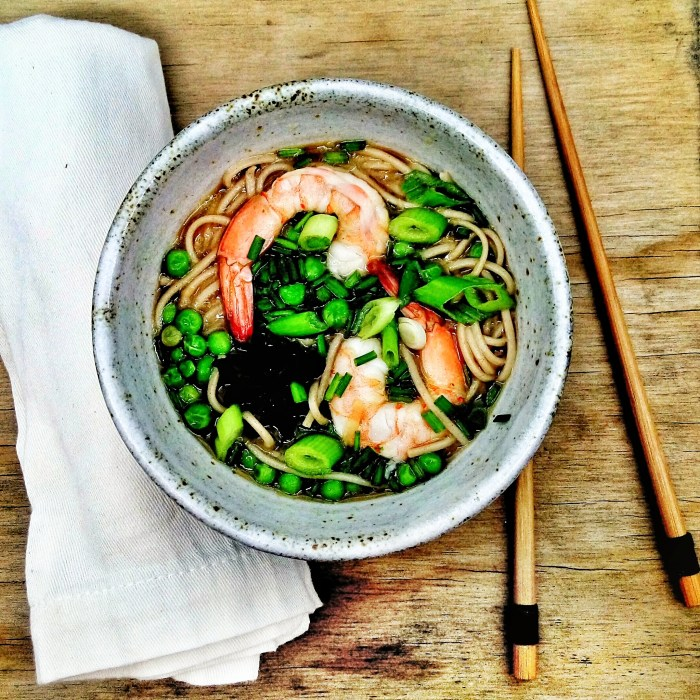 easy faux pho soup by lizziehomemaker asian inspired soba noodles shrimp