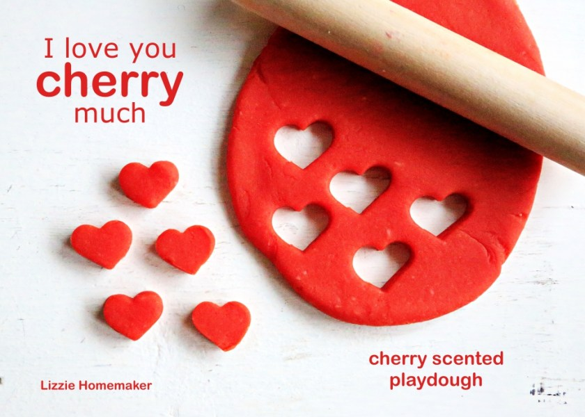 Lizzie Homemaker's Cherry Scented Playdough Play Dough
