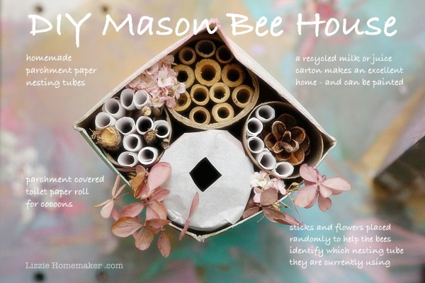 Lizzie Homemaker diy bee house