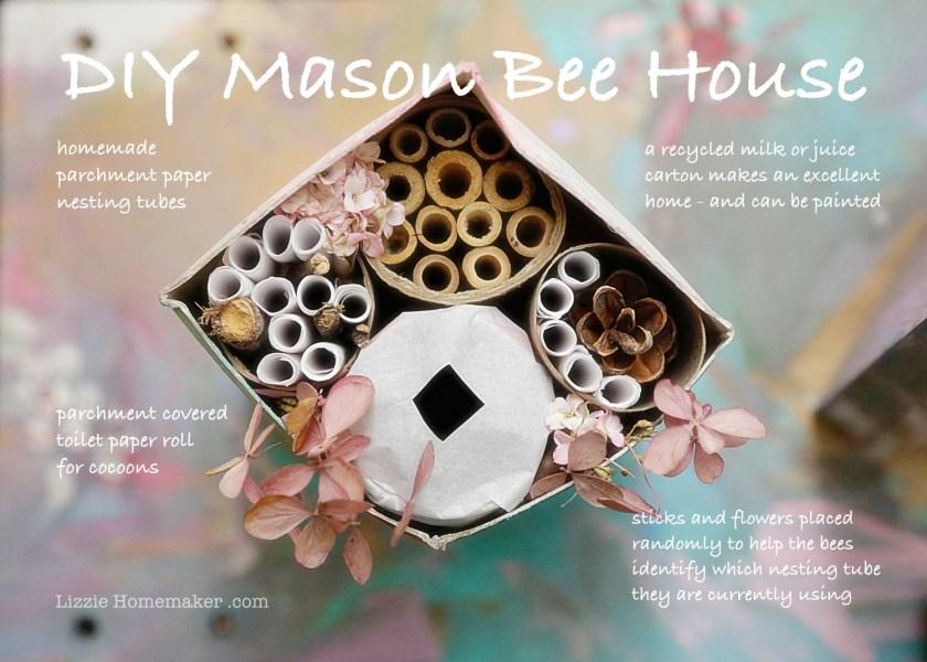 Lizzie Homemaker diy bee house