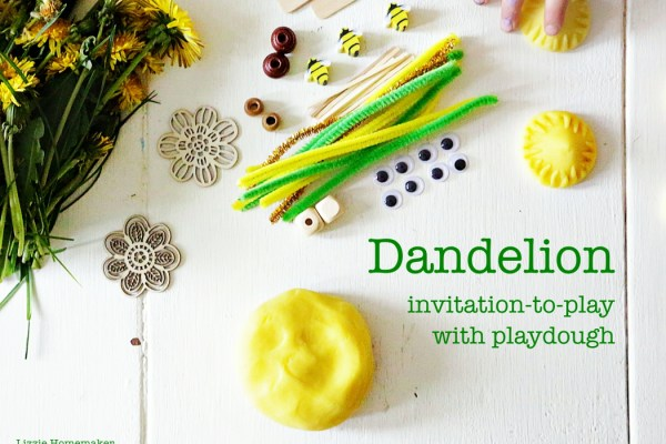 lizzie homemaker spring dandelion playdough invitation to play