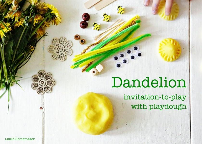 lizzie homemaker spring dandelion playdough invitation to play