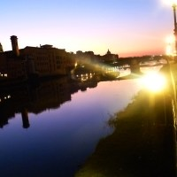 Silhouettes on the Arno River