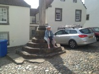 The Merkit Cross in Culross where Geilis Duncan was burned as a witch