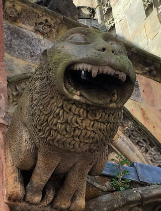 a LION garfoyle