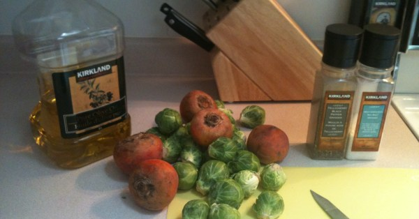 Roasted Brussels Sprouts & Beets