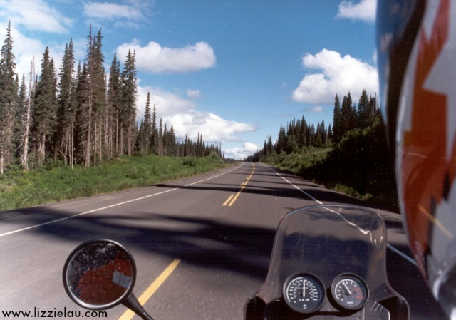 Riding the Stewart Alaska Highway