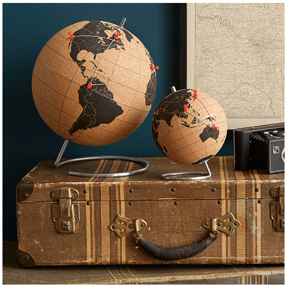 uncommon goods cork globe