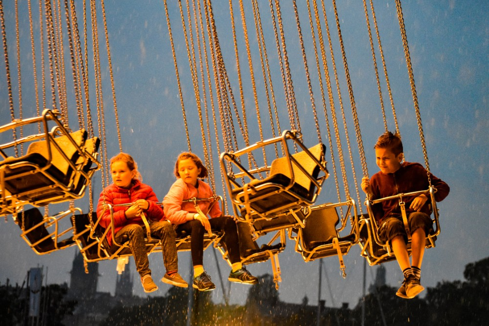 Visit Stockholm with kids - Grona Lund in the rain