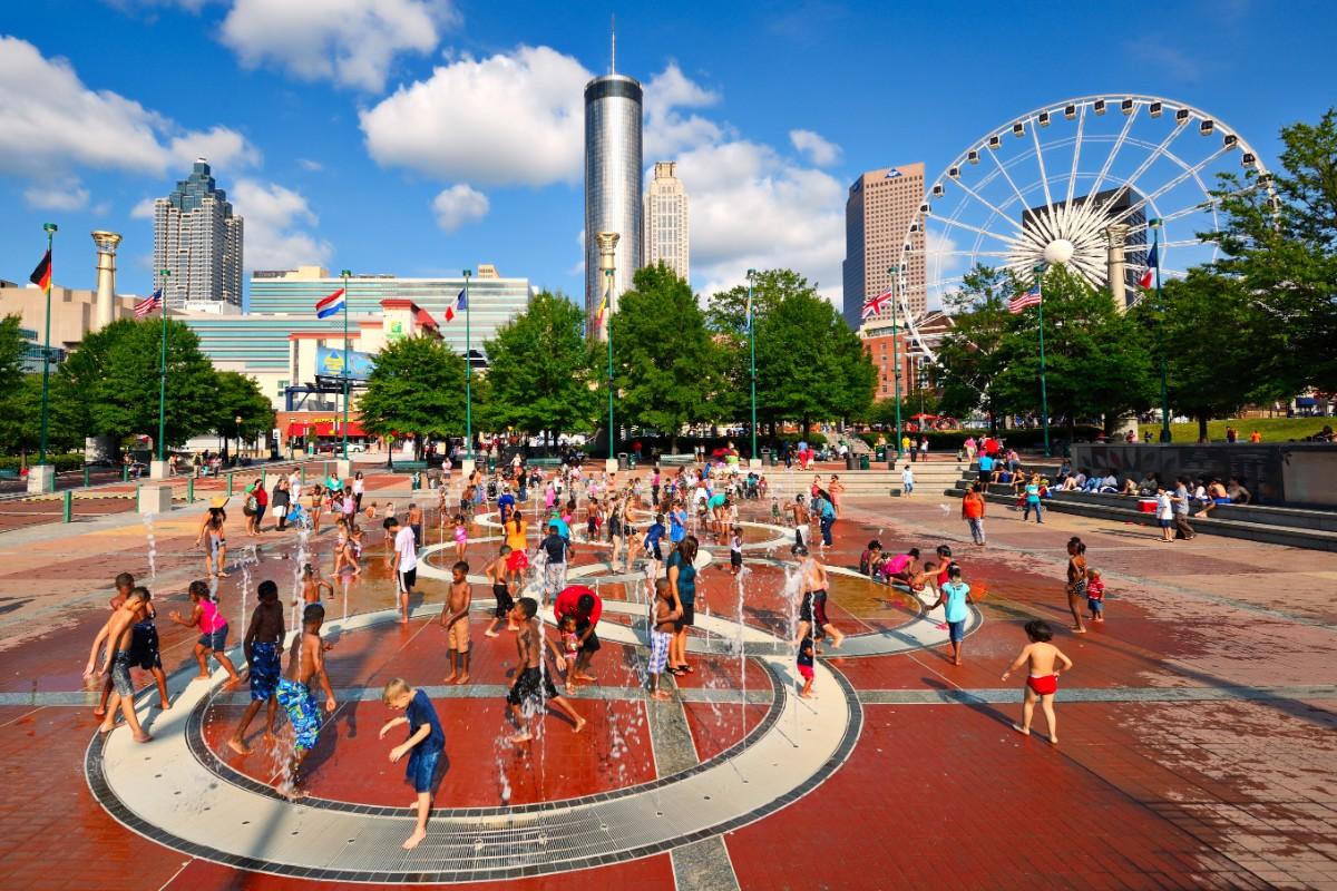 Centennial Olympic Park Atlanta with kids