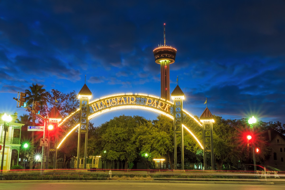 San Antonio with kids HemisFair Park