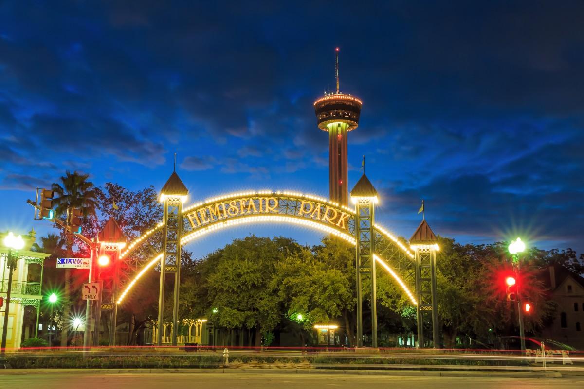San Antonio with kids HemisFair Park