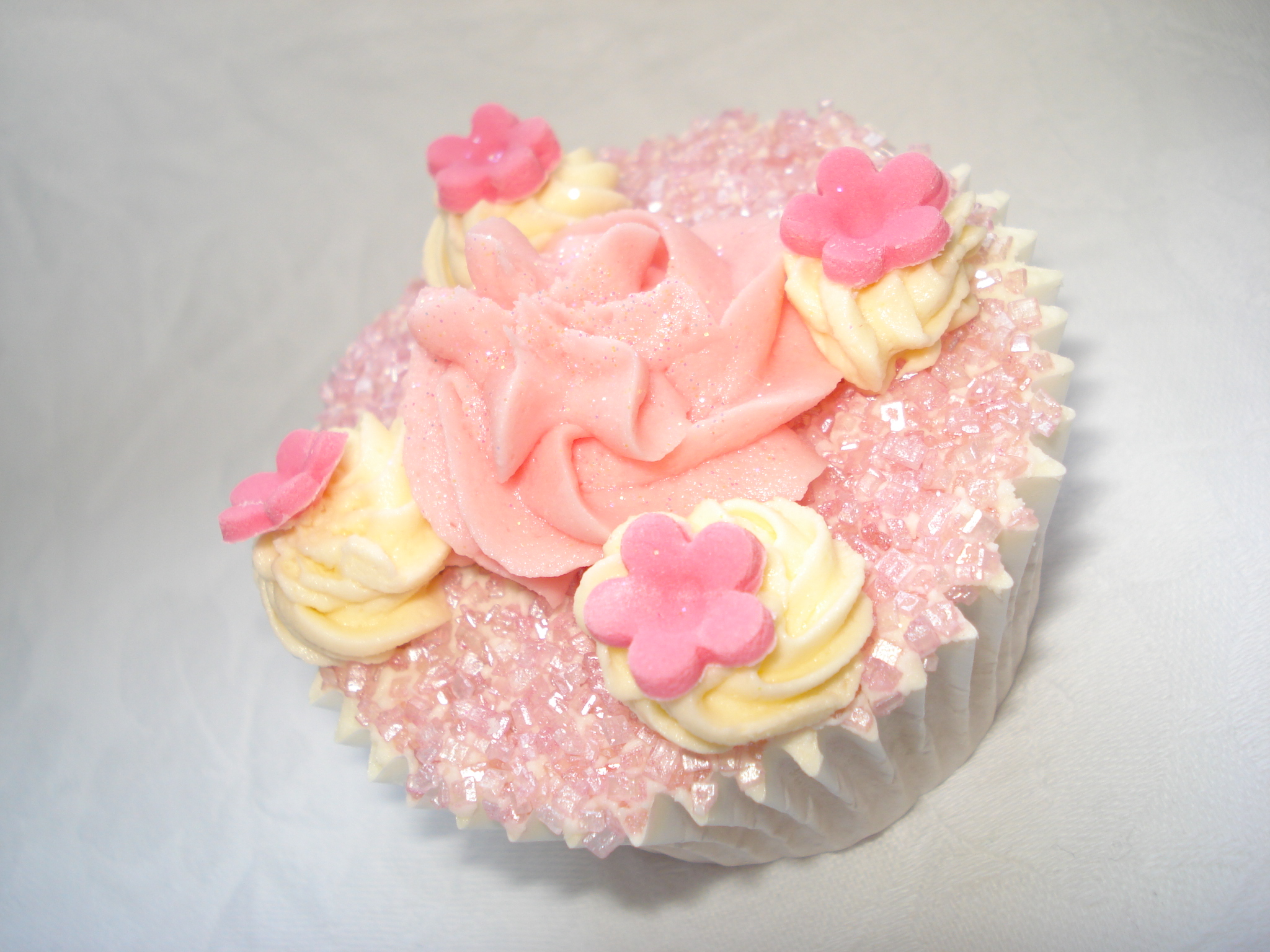 The pink fluffy cupcake