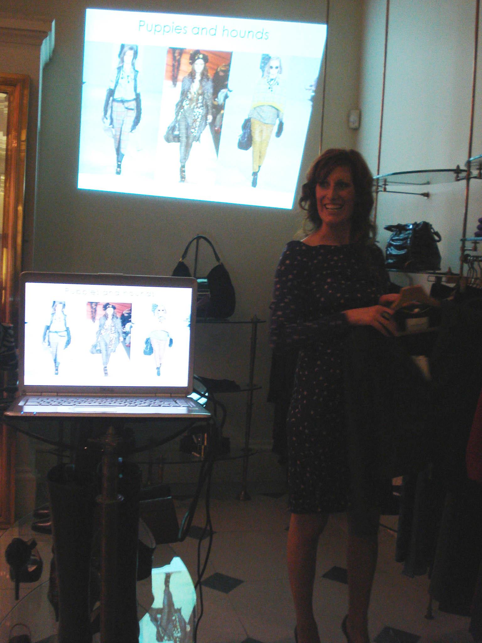 Judith presents Autumn/Winter fashion at LK Bennett
