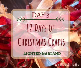 12 Days of Christmas Crafts-Day3- Lighted Burlap Garland