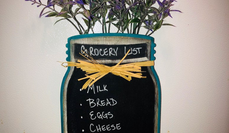 Dress up your Fridge with this DIY Mason Jar Chalkboard!