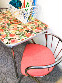 Vintage Kid's Table and Chairs Makeover